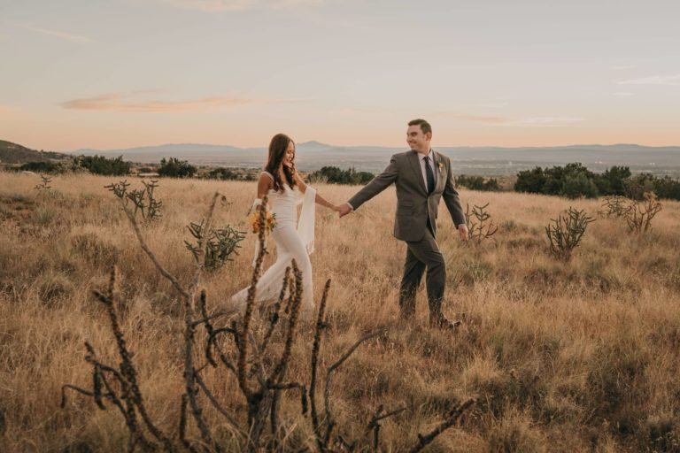 Intimate Sunset Wedding at Elena Gallegos Open Space